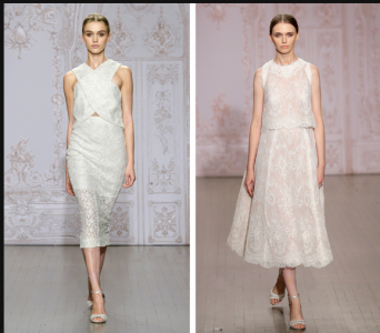 Two Piece Wedding Dresses Make Their Statement   NYTimes.com