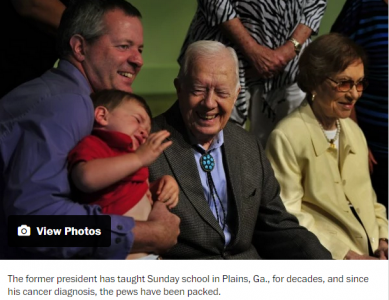 Crowds flock to Georgia to pay tribute to cancer stricken Jimmy Carter   The Washington Post